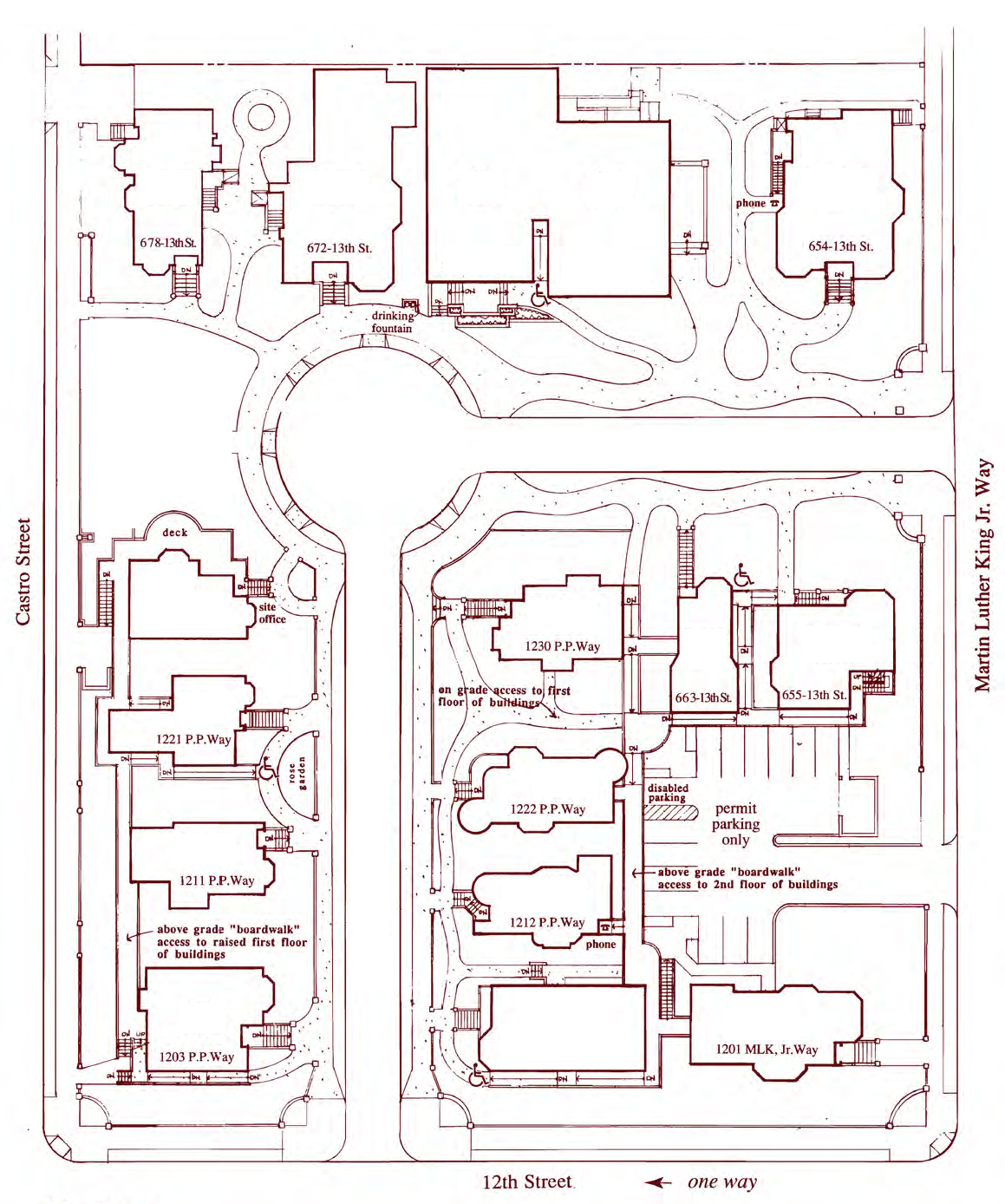 Preservation Park site map